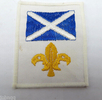 Boy Scouts of Scotland Embroidered Flag Patch