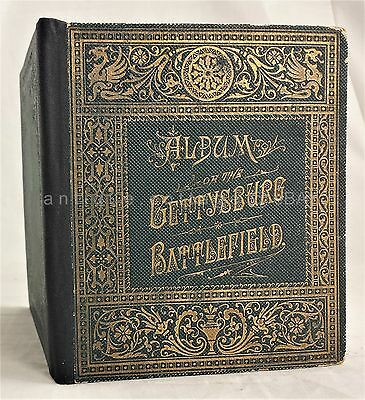 1880s antique ALBUM of the GETTYSBURG BATTLEFIELD photographs