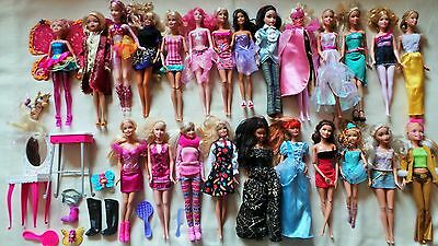 Large Barbie/my Scene Bundle 25 Dolls, Furniture And Other Bits