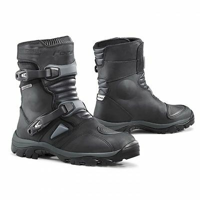 Forma Adventure Low Leather Enduro Touring Waterproof Boots Black In 9.5UK/44EU
