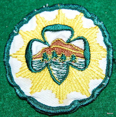 "Girl Scout Patch - 1955-60 Senior Interest - Mountaineer - 3"" - Very Scarce"