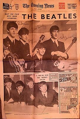 The Beatles Special: The Evening News 1963 Meet The 4 Boys From Liverpool' Sou'r