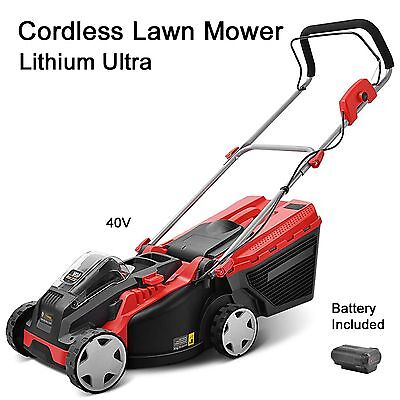 Push Lawn Mower Cordless Lithium Battery Power Lawnmower charger grass catcher