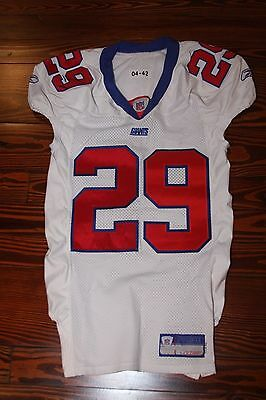 Vintage New York Giants Curry Burns Game Used Worn Football Jersey 2004 size 42