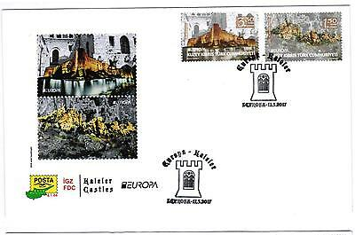 First Day Cover - Europa - Castles -  North Cyprus  2017 - Fdc