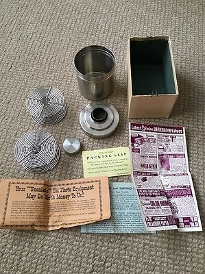 Vintage Spiratone Stainless Steel Double 35mm Developing Tank 2-Reels JAPAN NOS