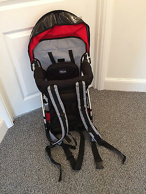 Baby Carrier - Chicco Caddy Backpack - Race - Red, Black And Grey Rucksack