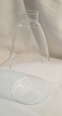 """Clear Glass Hurricane Lamp Shade Candle Chandelier Sconce Light 9"""" Tall 5"""" Wide"""