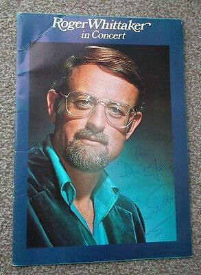 Roger Whittaker Signed 1976 Tour Programme.