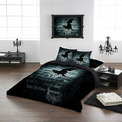 Nevermore 100% Cotton Double size Duvet pillow cover set 200x200cm 78''x78""