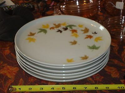 "Set of 6 Franciscan Indian Summer 10"" Dinner plates"