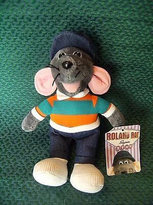 "Roland Rat Superstar Beanie 9"" Approx Plush Soft Toy With Tags By Posh Paws"
