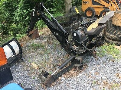 Bradco 611 Skid Loader Backhoe Attachment.  11' Max Digging Depth.
