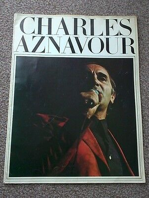 Charles Aznavour Signed 1975 Tour Programme.