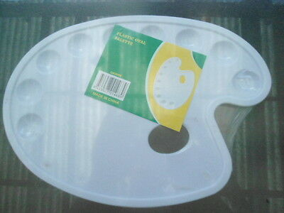 """2 X Oval Palette Paint Trays.30Cm X 21Cm.""""price Is For 2"""" Cheep..aussie Seller.."""
