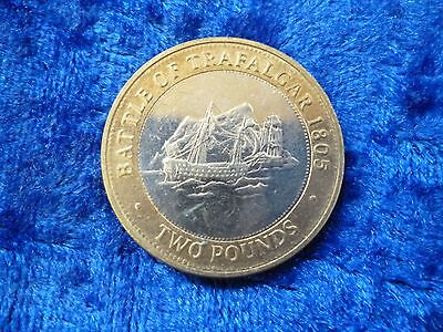 Gibraltar £2 Two Pounds Battle of Trafalgar 2013 circulated