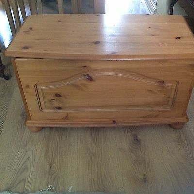 Solid pine trunk,  toy box, blanket chest,
