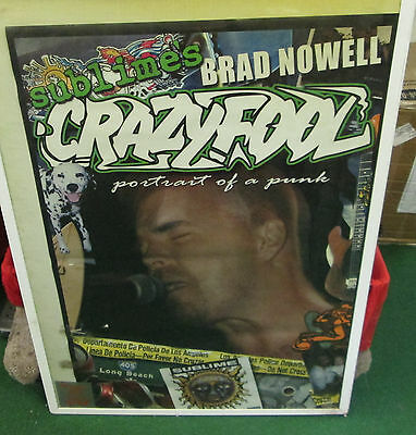 Sublime Rare New Never Opened Poster 2011 Vintage Bradley Nowell Crazy Fool