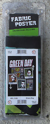 Green Day Texile Poster Flag  Rare New Never Opened Uno Dos Tre