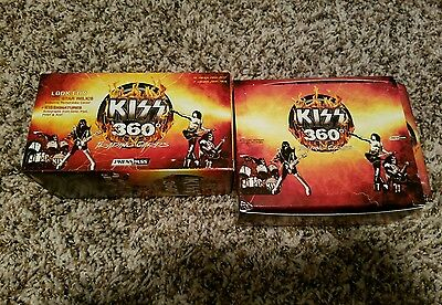 KISS Press Pass 360 Degrees Card Empty Boxes Two Different Plus Wrappers