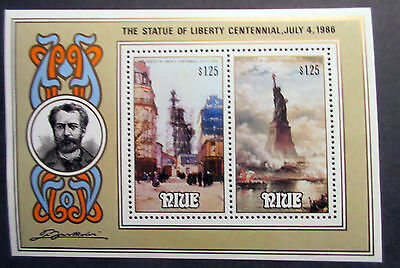 Niue 1986 Statue of Liberty Centennial Mini Sheet. MNH.