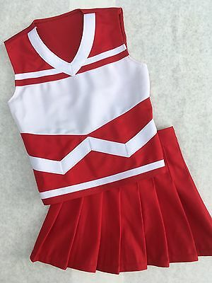 Authentic Cheerleading Uniform Youth Small RED Cheerleader Costume 23/20 Outfit