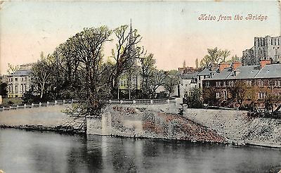 POSTCARD   SCOTLAND    KELSO   From  the  Bridge