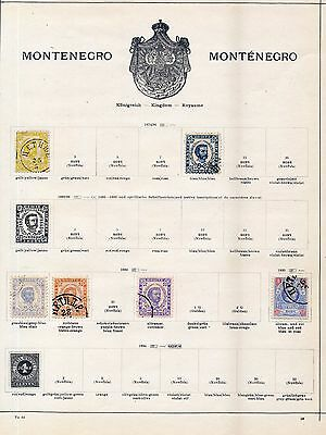 Montenegro 1870s/1913 M&U Collection(Approx 70+)OV1614