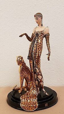 House of Erte OCELOT Porcelain Art Deco Figurine Franklin Mint #A7098