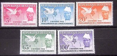 Guinea 1959 Proclamation of Independence Set. MNH.