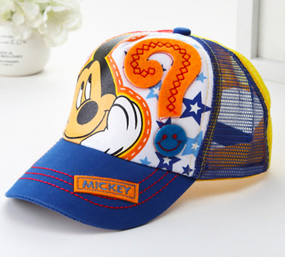 Gorra Mickey Mouse Baseball Caps For Kids Mouse Mesh Cartoon Hip Hop Boys B