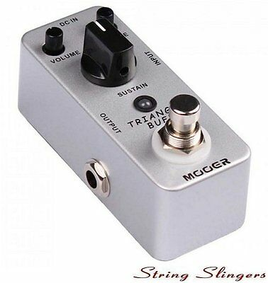 Mooer Micro Compact Triangle Buff Fuzz Drive Effects Pedal, MFZ2