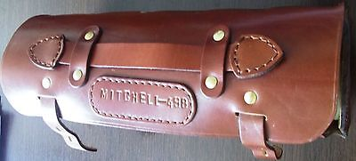 5 Spare Spools With Leather Case To Fit Mitchell 498 And 498 Pro