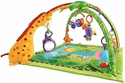 NEW Rainforest Melodies and Lights Deluxe Gym Stimulates Growing By Fisher-Price