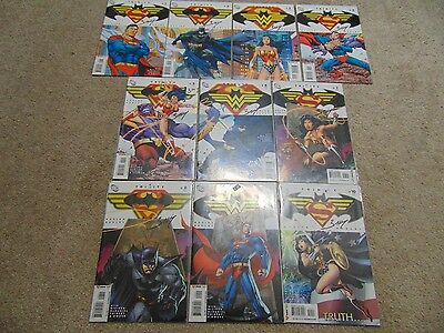 1 - 10 DC Trinity Comic Book Issues Signed All By Mark Bagley