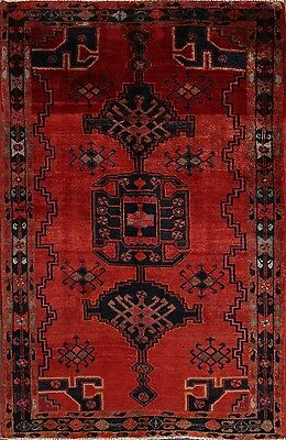 "Excellent Geometric Tribal 5x7 Viss Persian Oriental Area Rug 6' 11"" x 4' 7"""