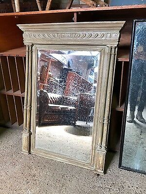 Stunning Vintage Antique French Painted Foxed Mirror