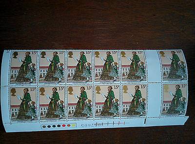 GB mint unmounted block of 12 Uniform Postage 1840 stamps issued 1979