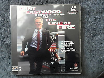 IN THE LINE OF FIRE - Clint Eastwood - WIDESCREEN DOUBLE LASERDISC - PAL