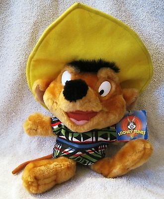 """New With Tags - Warner Brothers - 13"""" Speedy Gonzales Plush Toy - Great Gift!!"""