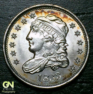 1833 Capped Bust Half Dime R2 V5 LM7  --  MAKE US AN OFFER!  #O5707