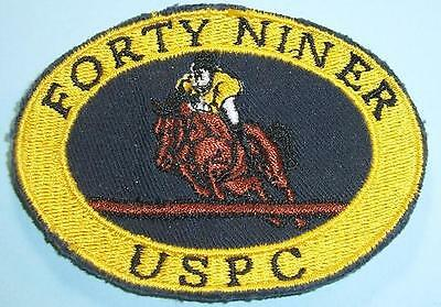 FORTY NINER USPC (US PONY CLUB)--1 thick Sew-on patch