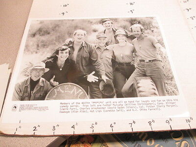MASH CBS TV studio show promo photo 1979 4077th Army medical 7 cast members