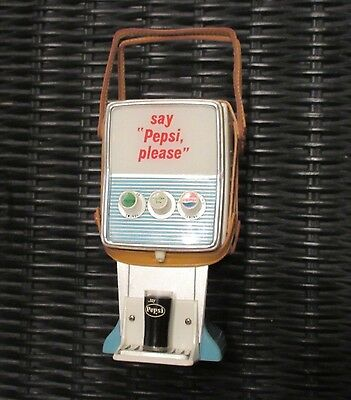 Pepsi collectible transistor radio - Countertop dispenser style WORKING