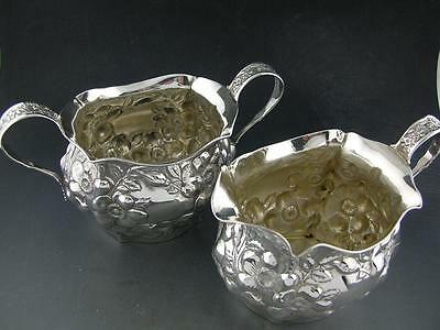 Sterling WHITING Creamer & Sugar Bowl DRESDEN 1896 ~no mono