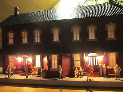 Mth 30-90094 O Scale Dark Red Passenger Station W/dual Platforms