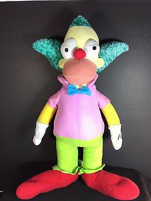 """The Simpsons KRUSTY CLOWN 15"""" Plush Doll TV Television Character Stuffed Toy"""