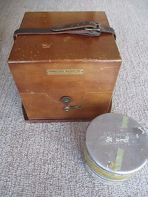 Hamilton Ship's Chronometer AND Ultra Rare Movement Shipping Container, LOOK !