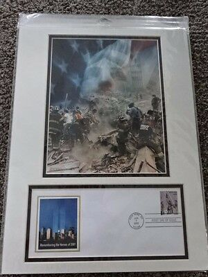2002 911 Usps First Day Cover/ Photo Matt Frame Remembering The Heroes 2001 Fdny