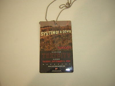 System Of A Down Promo Pass 2001  Toxicity Full Bleed Double Sided